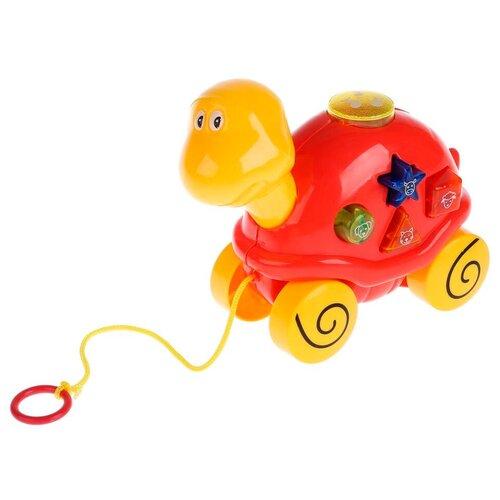 Фото - Каталка-игрушка Умка Черепашка (B1240622-R) красный/желтый игрушка для ванной умка бегемотик b1410463 r красный желтый зеленый