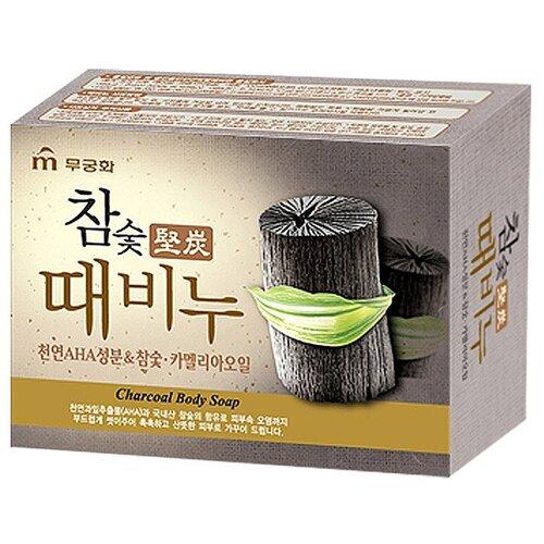 Мыло для тела Mukunghwa Charcoal Body Soap c древесным углём, 100 г