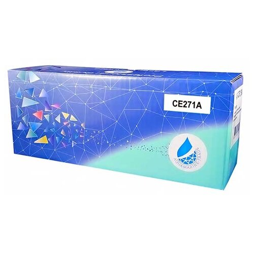Фото - Картридж Aquamarine CE271A (совместимый с картриджем HP CE271A / HP 650A) картридж aquamarine cf412a совместимый с картриджем hp cf412a hp 410a