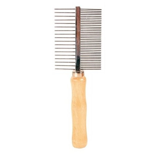 Расчёска с деревянной ручкой, 18 см