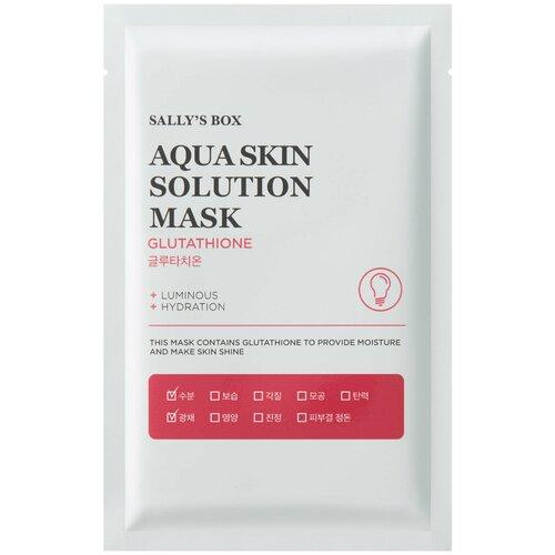 Sally's Box Aqua Skin Solution Mask Glutathione тканевая маска с глутатионом, 22 мл недорого