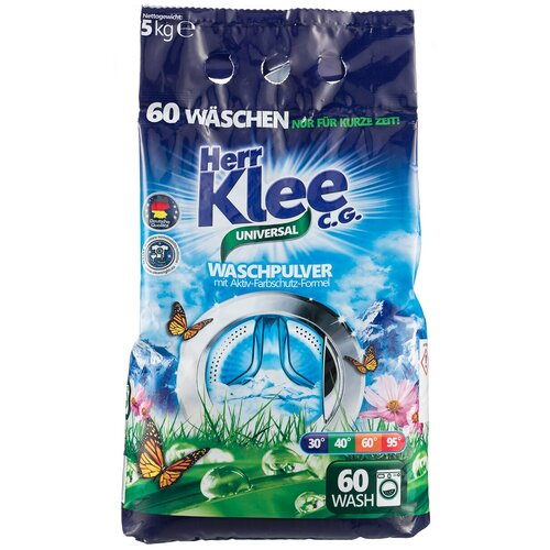 michael herr dispatches Стиральный порошок Herr Klee Universal универсальный, пластиковый пакет, 5 кг