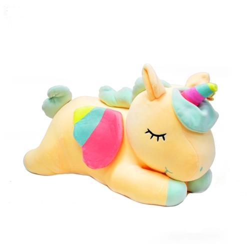 Ультра мягкая игрушка Лежачий Единорог 35см, желтый