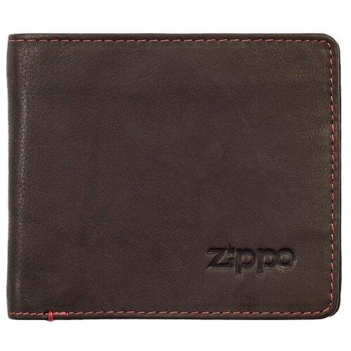 Фото - Портмоне Zippo 2005116, натуральная кожа мокко портмоне zippo серо чёрный камуфляж натуральная кожа 11 2x2x8 2 см