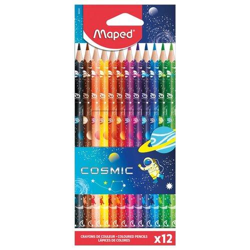 Фото - Maped Цветные карандаши Color Peps Cosmic 12 цветов (862242) карандаши набор 18цв аквар maped color peps aqua кисть