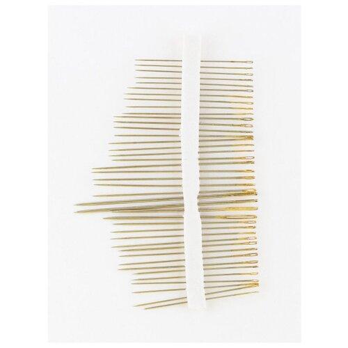 Фото - Иглы для шитья ручные, 45шт., HN-34, Гамма, серый игла gamma иглы бисерные hn 30 размер 12