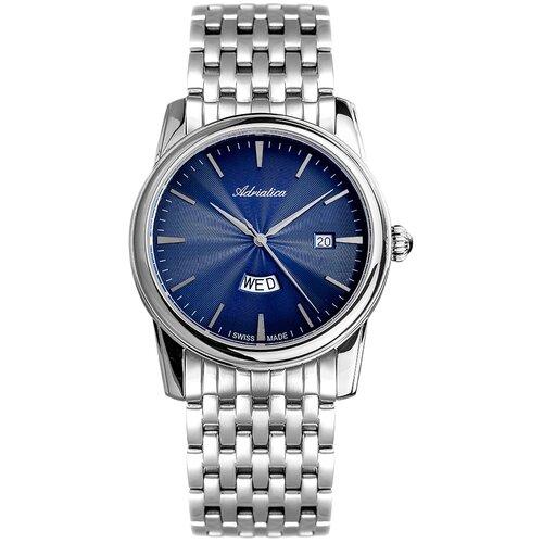 Фото - Часы наручные мужские Adriatica A8194.5115Q мужские часы adriatica a8279 r154q
