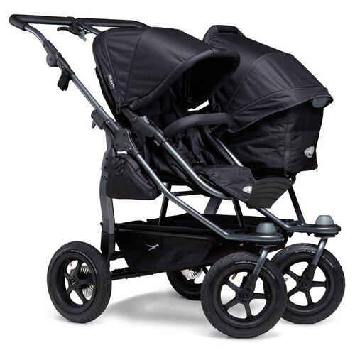 Фото - Универсальная коляска для двойни TFK Duo Combi (2 в 1), black, цвет шасси: серый универсальная коляска indigo charlotte duo 2 в 1 ch31 цвет шасси черный