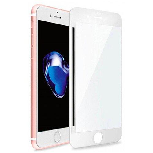Полноэкранное защитное стекло для Apple iPhone 7, iPhone 8, iPhone SE 2020 Full Glue Full Screen / Стекло для Эпл Айфон 7, Айфон 8, Айфон СЕ 2020 / 3D Полная проклейка экрана (Белый)