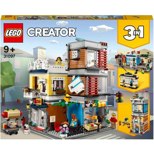 Конструктор LEGO Creator 31097 Зоомагазин и кафе в центре города конструктор lego city 60214 пожар в бургер кафе