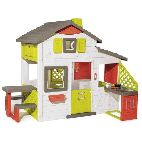 Детский игровой домик Friends House с кухней и звонком Smoby 810202