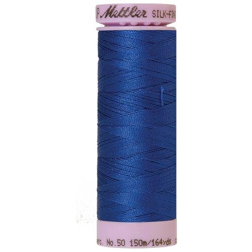 Нить для машинного квилтинга SILK-FINISH COTTON 50, 150 м 100% хлопок 1303 Royal Blue ( 9105-1303 )
