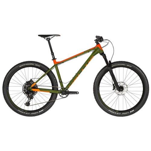 Фото - Горный (MTB) велосипед KELLYS Gibon 70 (2019) зеленый/оранжевый M (требует финальной сборки) велосипед haibike affair 8 70 2016