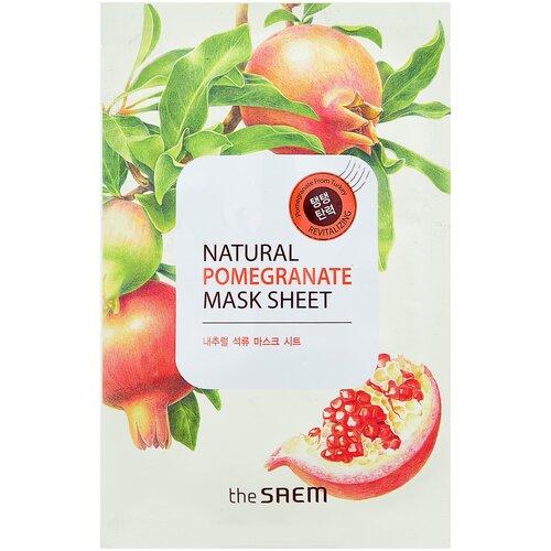 The Saem тканевая маска Natural Pomegranate, 21 мл the saem тканевая маска zoo