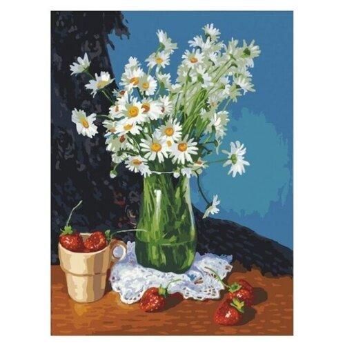 Купить Белоснежка Картина по номерам Ромашки и клубника , 30*40 см (365-AS), Картины по номерам и контурам