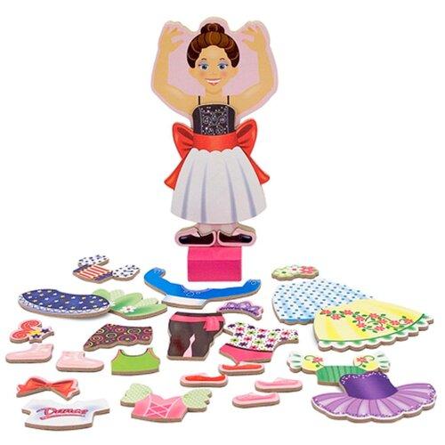 Купить Магнитные игры - Переодень Нину балерину Melissa Doug 3554, Melissa & Doug, Игровые наборы и фигурки