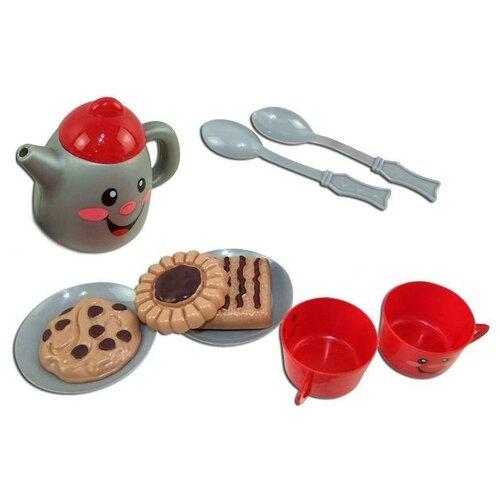 Фото - Набор продуктов с посудой ABtoys Помогаю маме РТ-00317 красный/коричневый/серый набор продуктов с посудой abtoys помогаю маме pt 00395 разноцветный