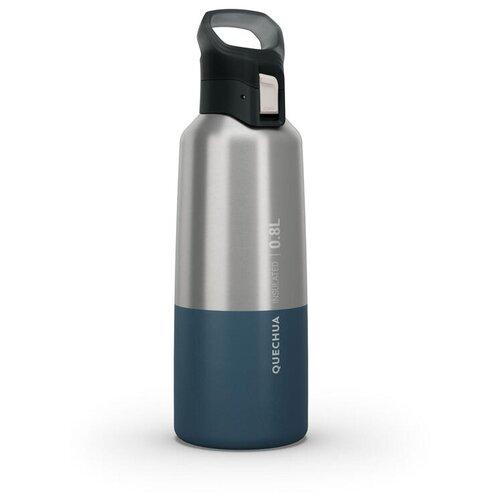 Термобутылка Decathlon QUECHUA MH500, 0.8 л серебристый/синий