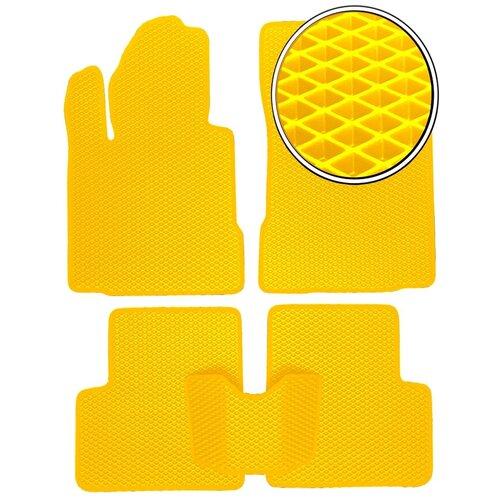 Автомобильные коврики EVA на Hyundai ix35 2010 - настоящее время - Желтый