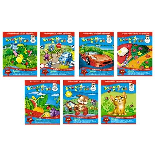 Купить Набор для творчества бум.цв.16л, 8цв, 50гр+карт.8л, А4, 4диз, С1832-01, 02, 03, 04 3 штуки, Апплика, Цветная бумага и картон