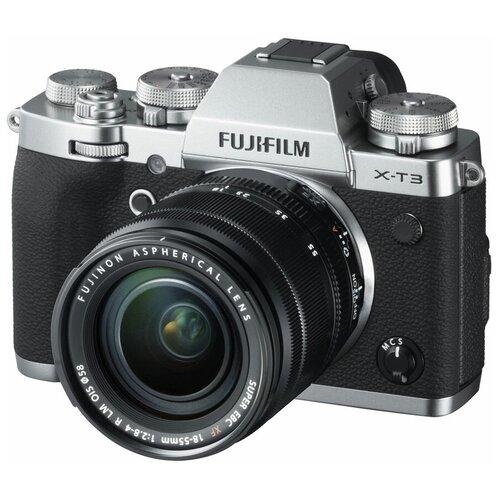 Фото - Фотоаппарат Fujifilm X-T3 Kit серебристый Fujinon XF 18-55mm F2.8-4 R LM OIS батарейная ручка fujifilm vg xt3 для x t3