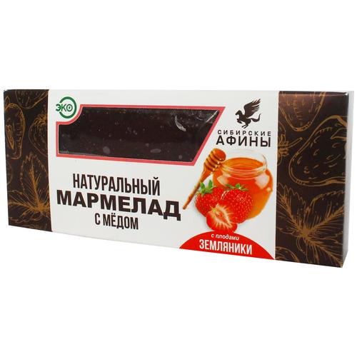 Мармелад Сибирские Афины сибирский на меду с земляникой 200гр мармелад жевательный ecofood siberia сибирские афины ягодное ассорти 100 г
