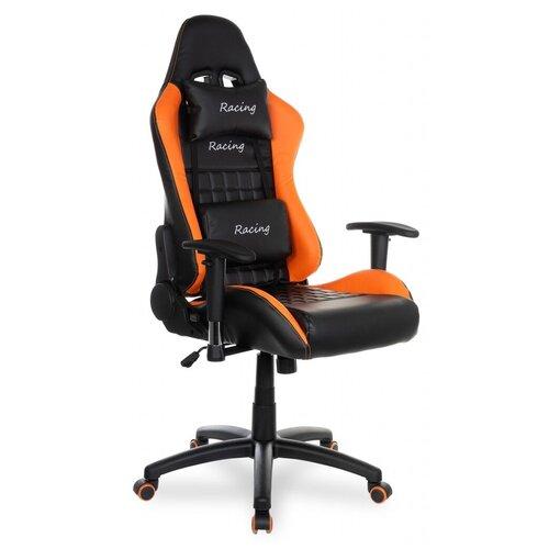 Компьютерное кресло College BX-3827 игровое, обивка: искусственная кожа, цвет: orange