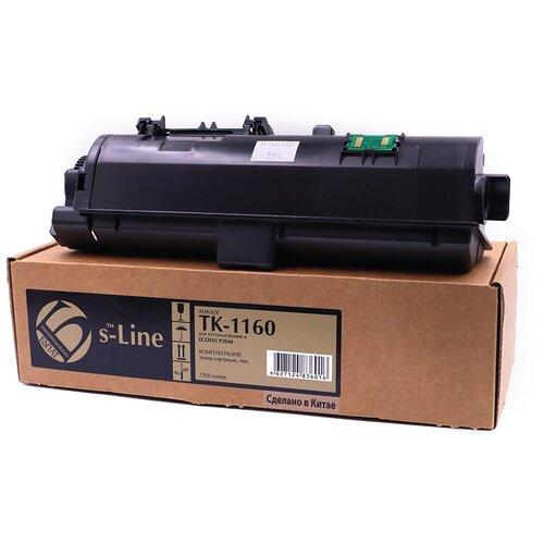Тонер-картридж булат s-Line TK-1160 для Kyocera ECOSYS P2040 (Чёрный, 7200 стр.)
