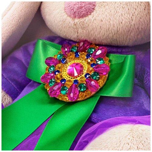 Мягкая игрушка Зайка Ми Пурпурный александрит (малый) 18 см BUDI BASA SidS-412