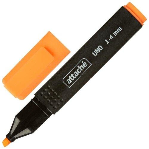Купить Текстовыделитель Attache Economy Uno оранжевый (толщина линии 1-4 мм) 14 шт., Маркеры
