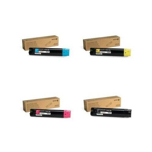 Фото - Xerox 106R01525-106R01524-106R01523-106R01526 Картриджи комплектом полный набор повышенной емкости CMYK:12K, BK:18K стр. [выгода 3%] для Phaser 6700DN 6700, 6700N hp m0j98ae m0j94ae m0j90ae m0k02ae картриджи комплектом 991x полный набор повышенной емкости cmyk 16k bk 20k стр [выгода 2