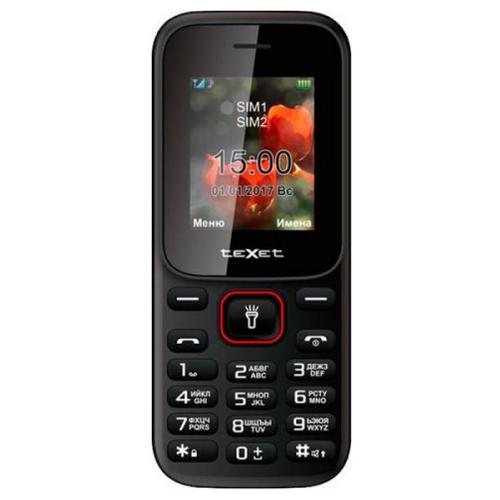 Мобильный телефон Texet 120 Черно-красный