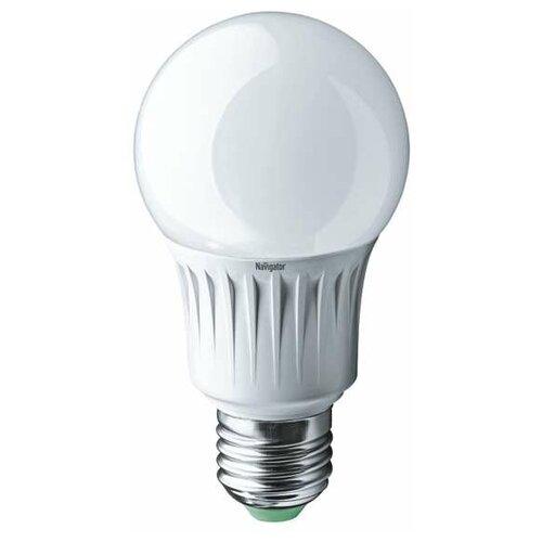 Лампа светодиодная 94 386 NLL-A60-7-230-4K-E27 7Вт грушевидная 4000К бел. E27 560лм 170-260В Navigator 94386 (упаковка 10 шт)