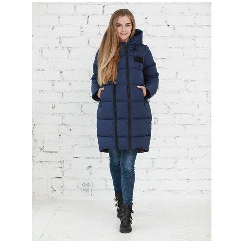 Фэст Куртка зимняя 2в1 Фэст 10303 темно-синяя для беременных (44)