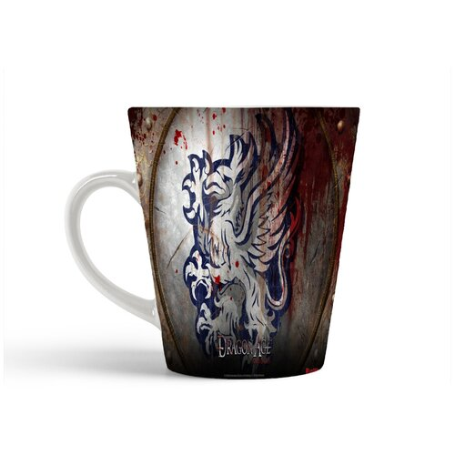 Кружка-латте CoolPodarok Dragon Age GreyWarden crest Драгон Эйдж