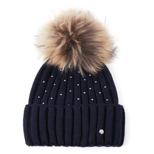шапка женская finn flare цвет ярко синий a20 11148 111 размер 56 Шапка женская Finn Flare, цвет: темно-синий A20-11153_101, размер: 56