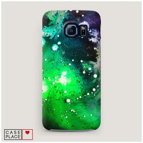 Чехол Пластиковый Samsung Galaxy S7 Зеленая абстракция