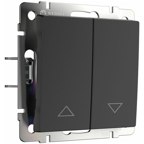 Выключатель жалюзи черный Werkel W1124508/ Выключатель жалюзи (черный)