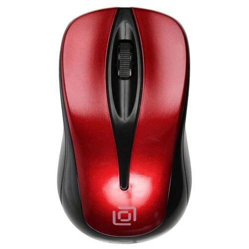 Мышь OKLICK 675MW черный/красный оптическая (800dpi) беспроводная