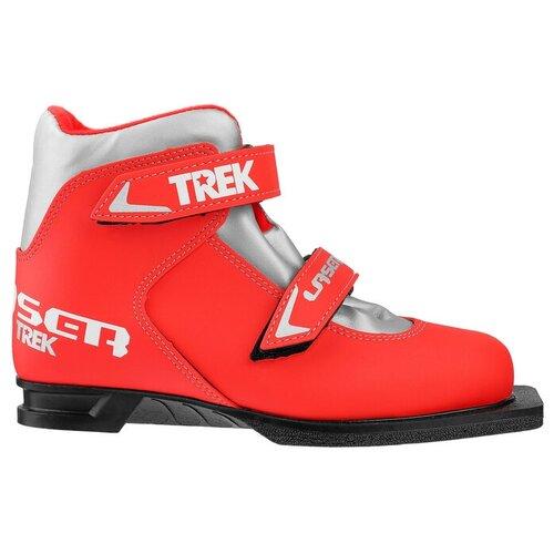 Trek Ботинки лыжные TREK Laser NN75 ИК, цвет красный, лого серебро, размер 34