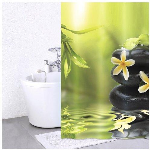 Фото - Штора для ванной IDDIS 680P18Ri11 180x200 зеленый/черный штора для ванной iddis 680p18ri11 180x200 зеленый черный