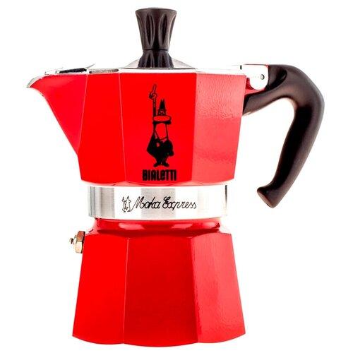 Гейзерная кофеварка Bialetti Moka Express Color (3 порции), красный