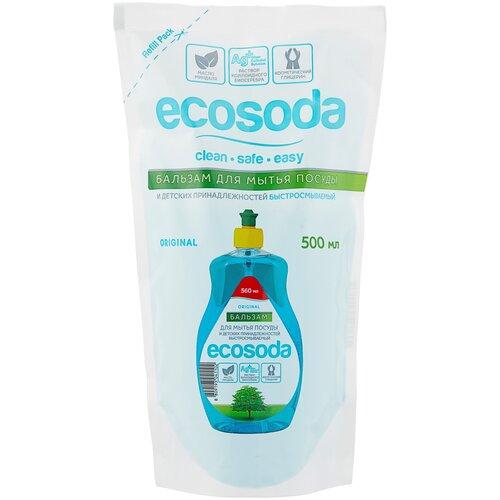 Фото - Mama Ultimate Бальзам для мытья посуды EcoSoda, 0.5 л средство для мытья посуды ecosoda 1л бальзам быстросмываемый