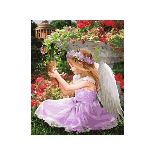 Фото - Картина по номерам Paintboy на подрамнике Веселый ангелок 40х50 GX34618 картины по номерам paintboy картина по номерам веселый ангелок