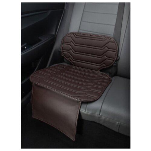 Чехлы (накидки) под бустеры. Защита сидений авто. Цвет: шоколадный. 1 шт. КОЛИБР