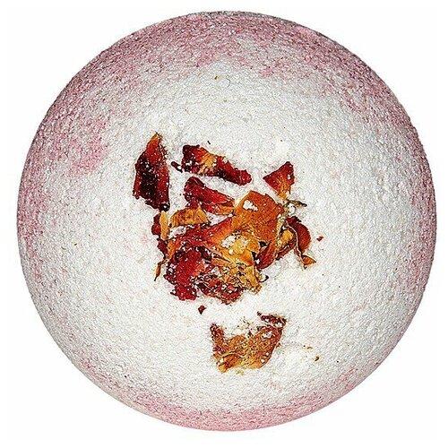 Лаборатория Катрин Бурлящий шар Двухцветный с лепестками роз, 130 г