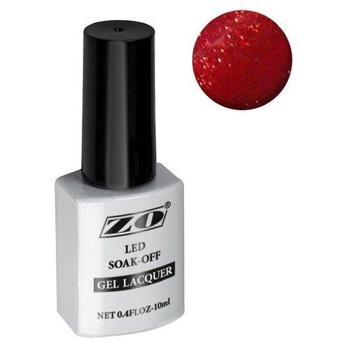 Гель-лак для ногтей ZO mGL, 10 мл, 187 коричнево-малиновый шиммер  - Купить