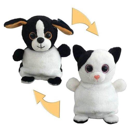 Мягкая игрушка Junfa toys Перевертыши Кошка-Собака 16 см