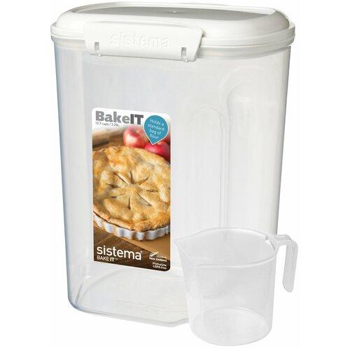 Фото - Sistema Контейнер с чашкой BAKE-IT 1250, 13x17.5 см, прозрачный sistema контейнер с чашкой bake it 1250 13x17 5 см прозрачный
