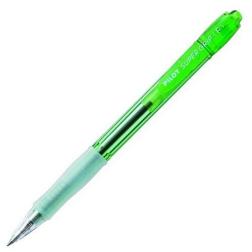 Купить Ручка шариковая BPGP-10N-F G SUPER GRIP NEON корпус зеленого цвета 2 штуки, PILOT, Ручки